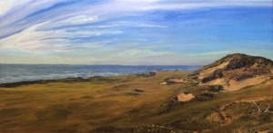 Pacific Dunes Hole 13 (10x20 inches) Not for sale