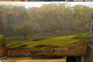 Somerset Hills CC Hole 2, The Redan (20x30 inches)