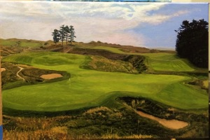 Whistling Straits Hole 18 (12x18 inches)