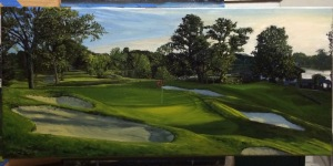 Congress Lake Club Hole 5 (11x24 inches) Not for Sale