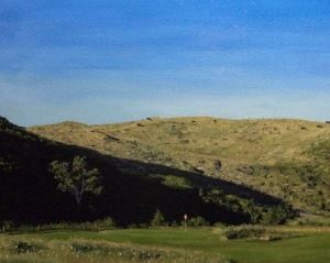 DIsmal River Red Course Hole 15 (16x20 inches) Not for Sale